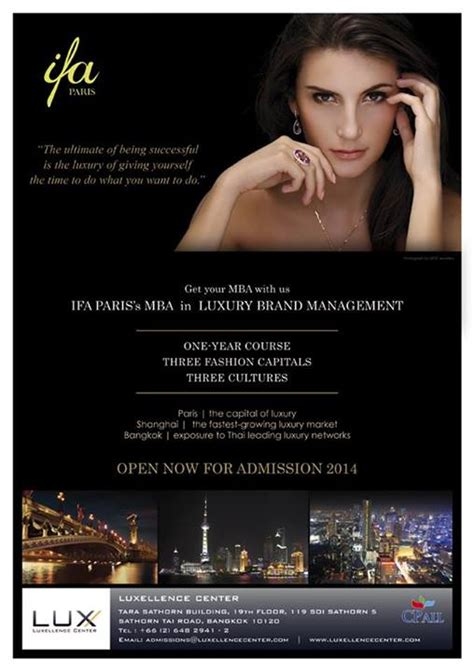 Luxury Brand Management Mba by หล กส ตร Ifa S Mba Luxury Brand Management Mba