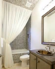 small bathroom curtain ideas your bathroom look larger with shower curtain ideas