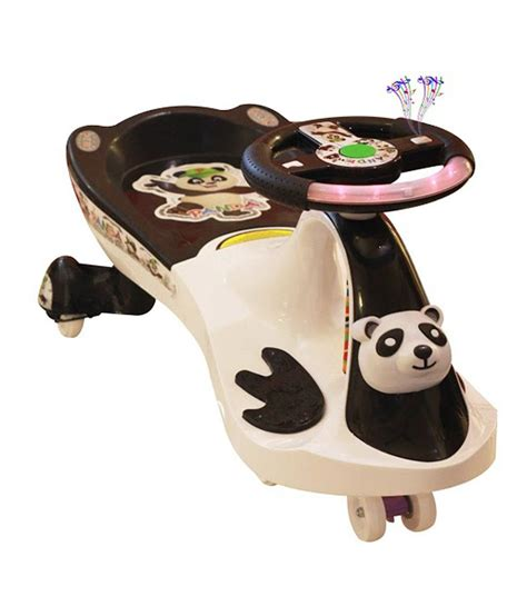 panda swing car panda uae360 magic swing car white and black with panda