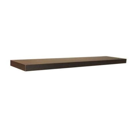 Home Depot Shelf by 42 In X 10 2 In X 2 In Espresso Floating Shelf
