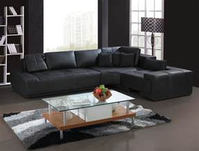 Modern L Sofa Franco Collection Modern L Shaped Leather Sofa Couch Black