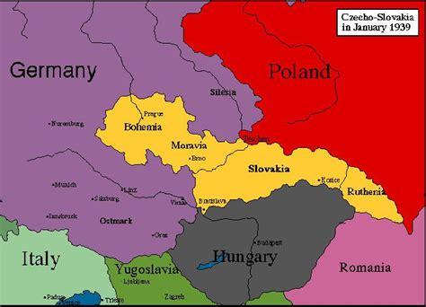 czechoslovakia map czechoslovakia map during ww2 world map