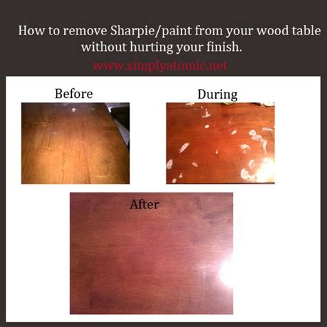 How To Get Sharpie A Table how to remove sharpie or paint your wood table without