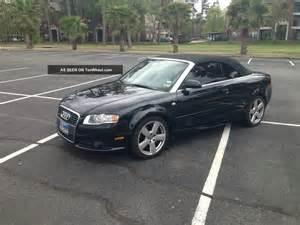 2007 audi a4 cabriolet s line quatto black on black