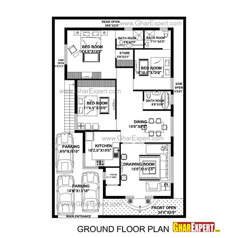 House Building Estimate by House Plan For 40 Feet By 60 Feet Plot Plot Size 267
