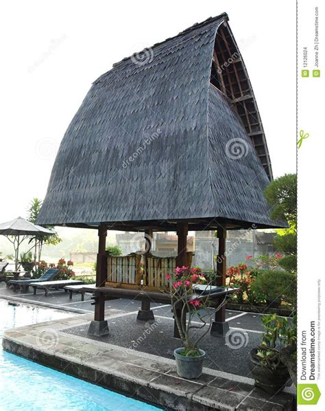 Rustic Elegance Home Decor Traditional Architecture Balinese Resort Stock Photo