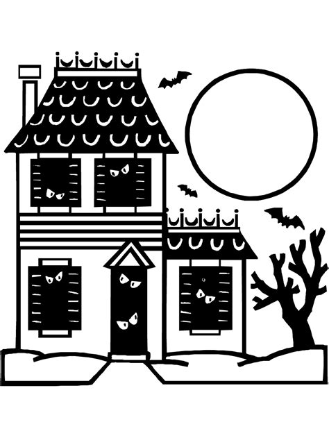 house coloring pages pdf haunted house coloring page printable halloween coloring