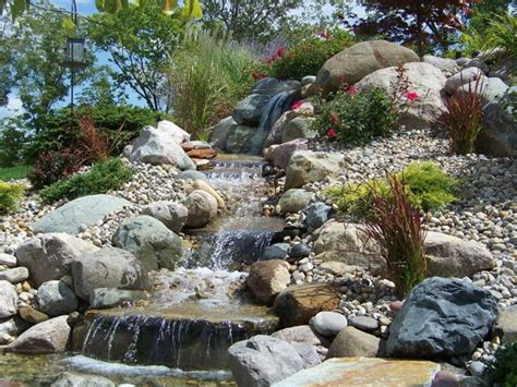 pondless waterfall garden rocks boulders