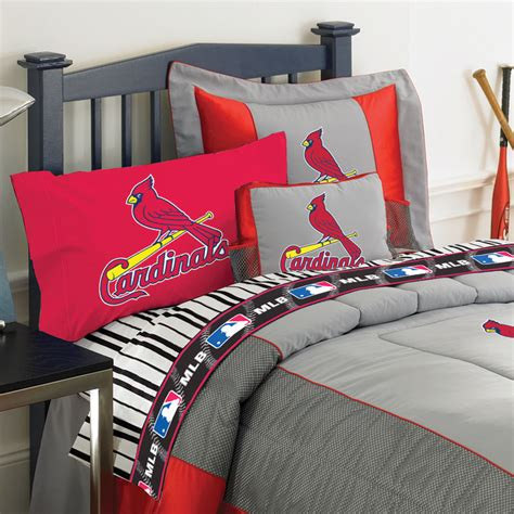 st louis cardinals twin size sheets set