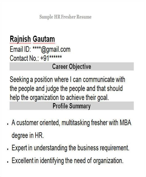 resume format for freshers in editing 42 professional fresher resumes sle templates