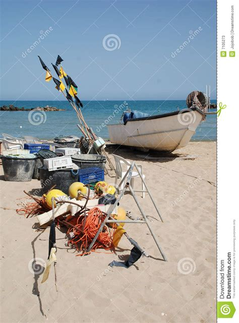 fishing boat equipment fishing boat and equipment stock photos image 7105273