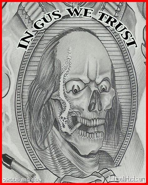 benjamin tattoo designs skull designs drawings ben franklin skull 2