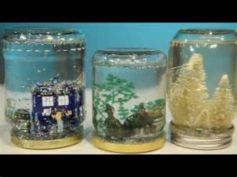 kerajinan snow globe unik  cantik  botol kaca bekas