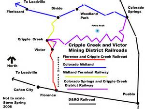 map of cripple creek colorado colorado springs and cripple creek district railway