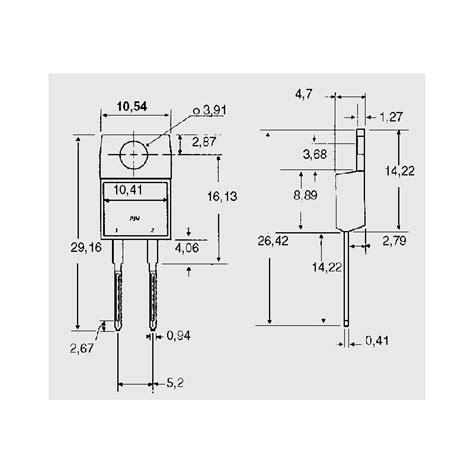 schottky diode mbr mbr 745 to housing schottky diodes elpro elektronik
