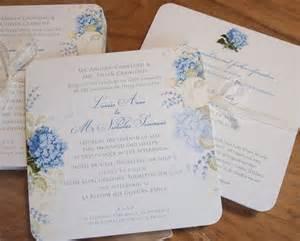 blue hydrangea wedding invitations and stationery paper pleasures stationery
