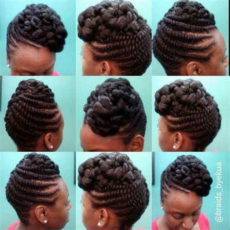 braids by ekua flat twisted updo by ekua flats twists and updo
