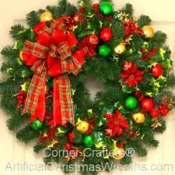 christmas wreath holly jolly christmas wreath artificialchristmaswreaths