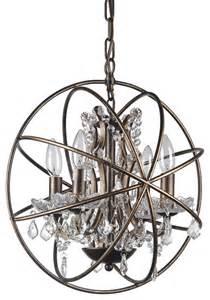 antique chandelier globes vintage style globe chandelier antique bronze