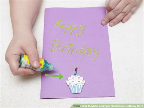 Steps To Make Handmade Cards - how to make a simple handmade birthday card 15 steps