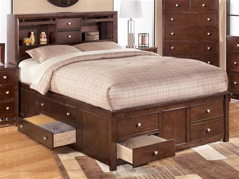 queen bed with drawers queen size bed frames with drawers home design ideas
