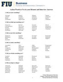 adjectives to use on resume sles of resumes