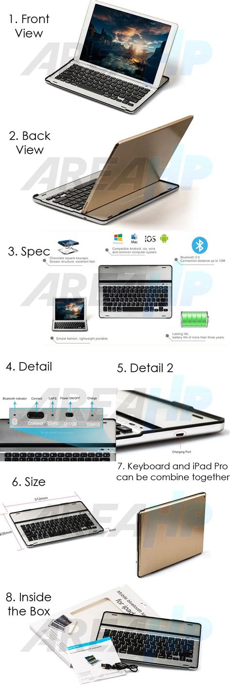 Ultra Slim Keyboard For Pro areahp ultra slim keyboard for pro 12 9