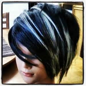 pictures of black hair with platinum highlights my work with blue black coloring and platinum blonde