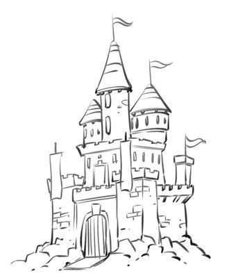 castles, coloring pages and coloring on pinterest