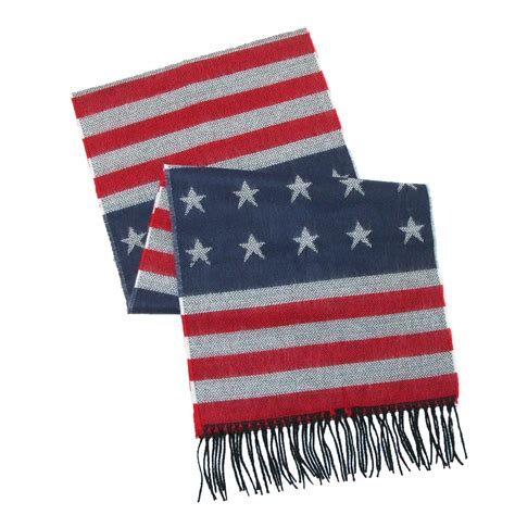 usa flag winter scarf by david winter scarves