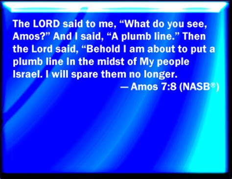Plumb Line Bible Verse by Bible Verse Powerpoint Slides For Amos 7 8