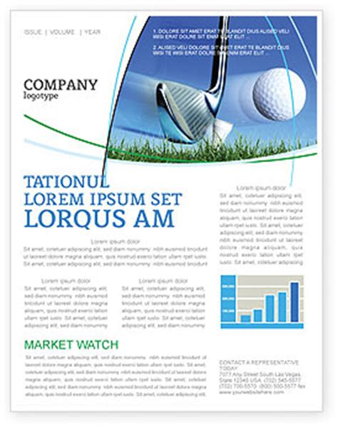 Slight Bump In Golf Newsletter Template For Microsoft Word Adobe Indesign 04845 Download Now Golf Newsletter Templates