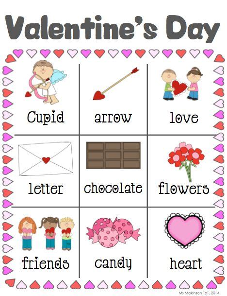 words for valentines day writing activities february writing centers words and