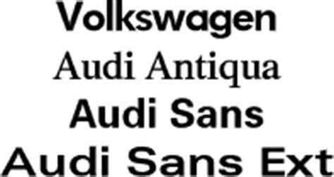 volkswagen audi fonts