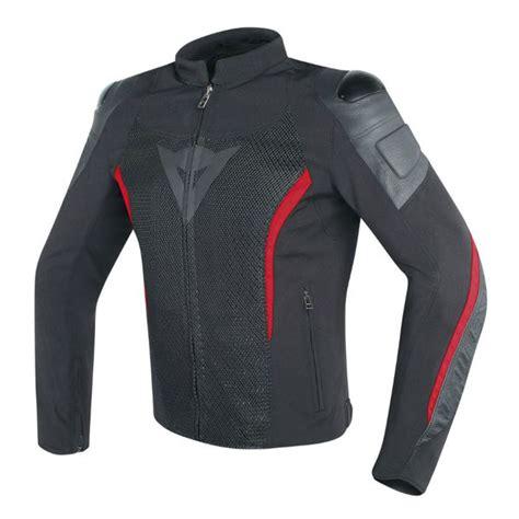 dainese mig tekstil deri motosiklet ceketi siyah kirmizi