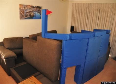 Magnetic Pillow Fort by Squishy Forts Magnetic Cushions Let You Build The Ultimate Pillow Fortress