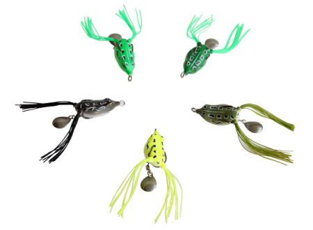 5pcs Umpan Kodok High Quality Frog Fishing Lure 6gram With Box shop for 5pcs lot topwater lures hollow frog fishing tackle lure set soft baits with tackle box