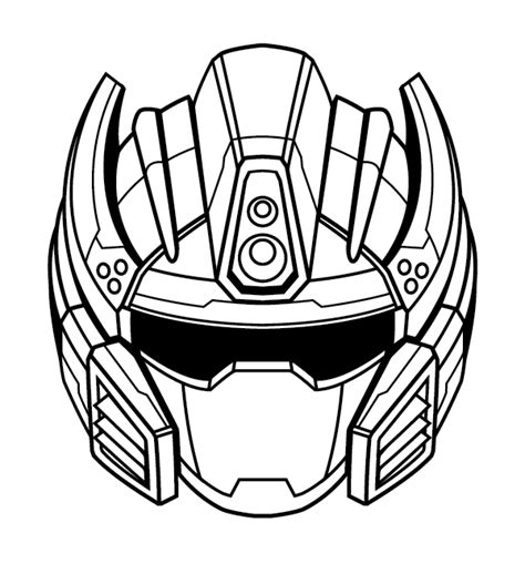 vector robot tutorial create a futuristic robot helmet in a line art style in