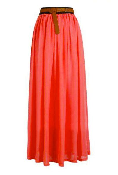 items similar to pink coral leila chiffon maxi skirt on etsy