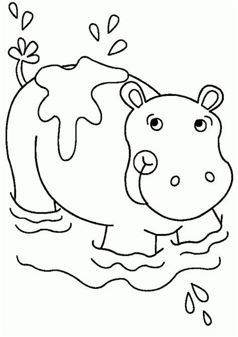 imagenes para colorear hipopotamo hipopotamo para pintar az dibujos para colorear