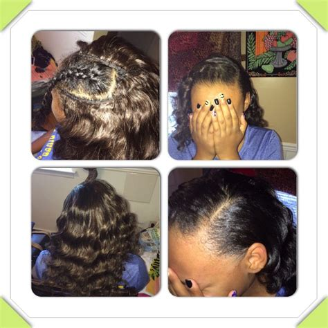 sew in with minimal leave out gorgeoushaiir pinterest sew in with side part minimal leave out hair by