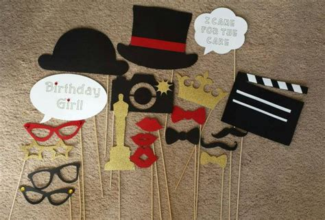 free printable movie themed photo booth props best 25 hollywood birthday parties ideas on pinterest