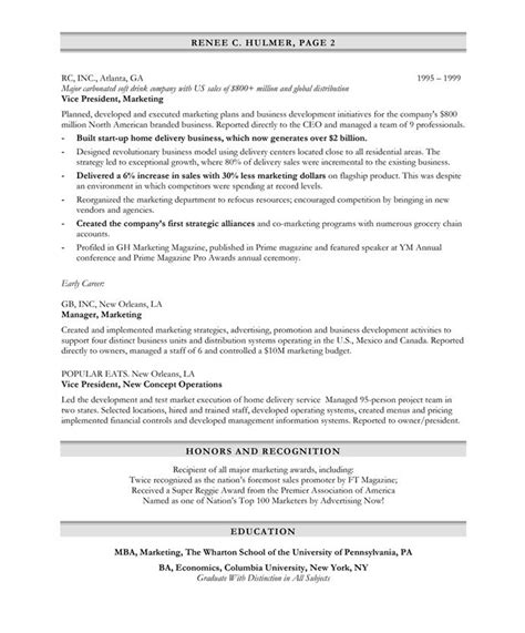 Resume Template Bullet Points Exle Resume Sle Resume Bullet Points