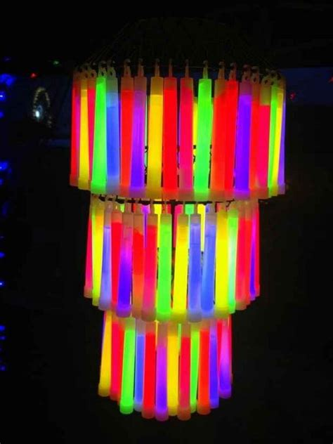 glow stick decorations diy rainbow decorating ideas for hative