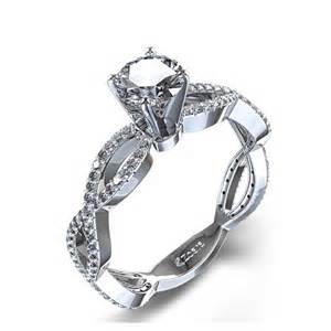 twist engagement ring infinity twist engagement ring in 14k white gold