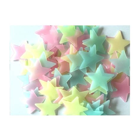 100 pcs wall stickers home decor glow in the dark star 100pcs luminous star wall stickers home room decor glow in