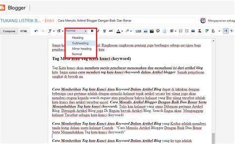membuat artikel yang benar cara menulis artikel blogger dengan baik dan benar