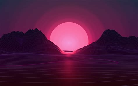 wallpaper sunset neon pink  creative graphics