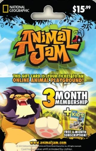 Animal Jam Membership Gift Card - free animal jam gift card gift cards listia com auctions for free stuff