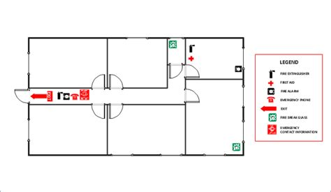 fire extinguisher symbol floor plan fire and emergency plans how to draw an emergency plan